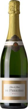 Игристое вино Де Перрьер Блан де Блан Брют / De Perrier Blanc de Blancs Brut,  Шардоне, Коломбар, Уни Блан,  Белое Сухое, Франция