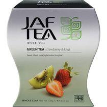 Чай JAF TEA Strawberry Kiwi зеленый листовой, с ароматом клубники и киви 100 гр.