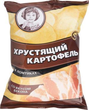 Чипсы Хрустящий картофель Со вкусом бекона