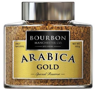 Кофе Arabica Gold растворимый,  Bourbon, 100 гр., стекло