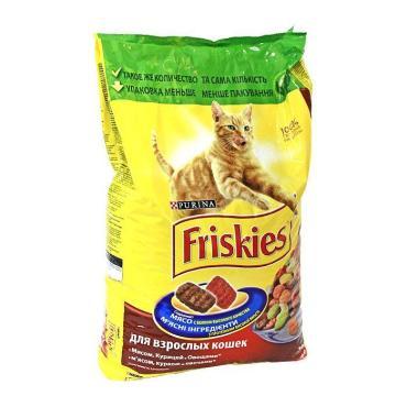 Корм сухой для кошек мясо/овощи Friskies 2 кг. Пластиковый пакет