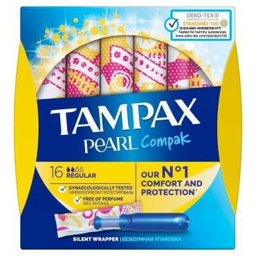 Тампоны TAMPAX Compak Pearl Regular 16 шт.