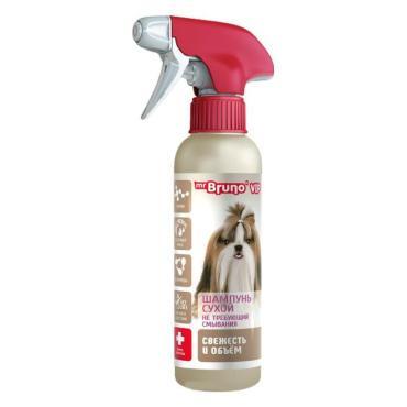 Сухой шампунь для собак Mr.Bruno Vip Свежесть и объем не требующий смывания с таурином экстрактом риса и керамидами