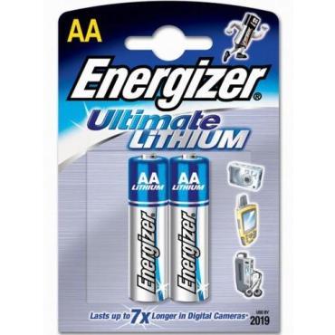 Батарейка Energizer AA литиевая Lithium Ultimate FR 6-2BL 1.5V 2 шт