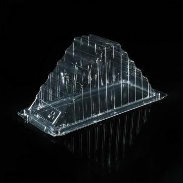 Контейнер с неразъемной крышкой Протэк ПК-326 18,9 х 7,8 см. треугольный прозрачный