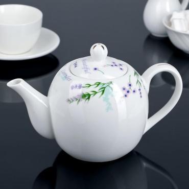 Чайник заварочный Доляна Лаванда 800 мл.