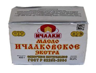 Масло сливочное Ичалки Ичалковское Экстра 80%