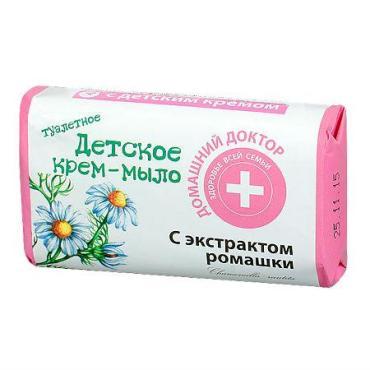 Крем-мыло Домашний Доктор Детское туалетное с экстрактом ромашки
