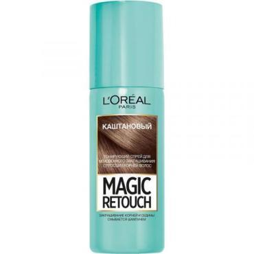 Тонирующий спрей L'Oreal Magic Retouch для мгновенного закрашивания отросших корней каштановый