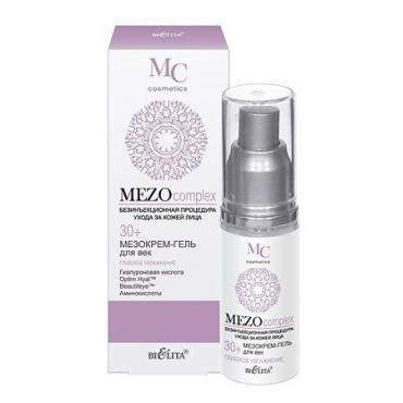 Мезокрем-гель для век Bielita MEZOcomplex Глубокое увлажнение 30+