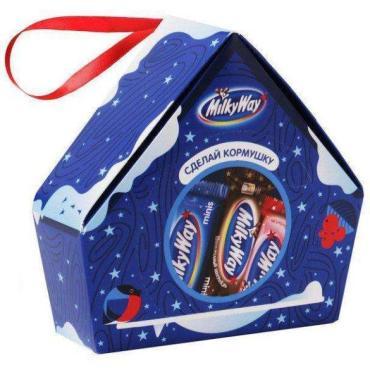 Новогодний сладкий подарок Кормушка,  Milky Way, 155 гр., подарочная упаковка