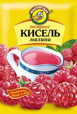 Кисель Малина  брикет Мастер Дак Вишня, 180 гр., м/уп