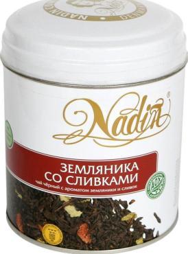 Чай Nadin черный Земляника со сливками