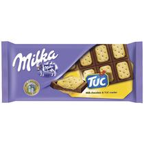 Шоколад Milka с крекером Tuc