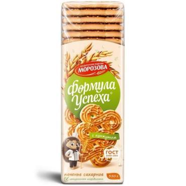 Печенье с кунжутом Кондитерские изделия Морозова Формула успеха, 350 гр., пластиковый пакет
