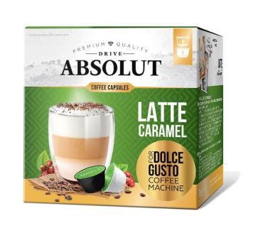 Кофе в капсулах Absolut Dolce Gusto Латте Маккиато со вкусом карамели, 169 гр., картонная коробка