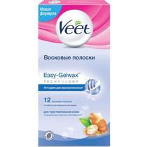 Полоски Veet Easy Gel-wax восковые для чувствительной кожи 20 шт.