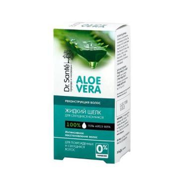 Жидкий шелк для волос Эльфа Dr.Sante Aloe Vera Реконструкция для секущих кончиков волос