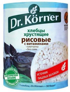 Хлебцы Рисовые с витаминами, Dr. Korner, 100 гр., пластиковая упаковка