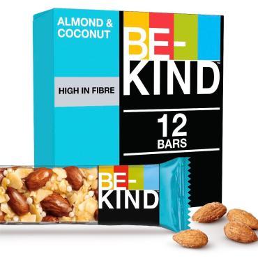 Батончик Миндально-кокосовый с медом, 12 шт., Be-Kind, 480 гр., картон