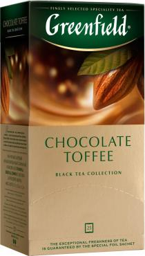 Чай черный 25пак., Greenfield Chocolate Toffee, 37,5 гр., картонная коробка