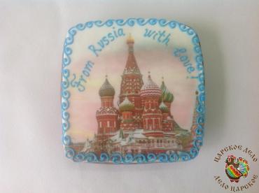 Пряник Царский пряник Вид Москвы 150х150 мм