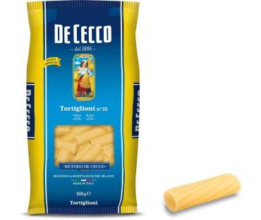 Макаронные изделия DeCecco Tortiglioni №23, 500 гр., флоу-пак