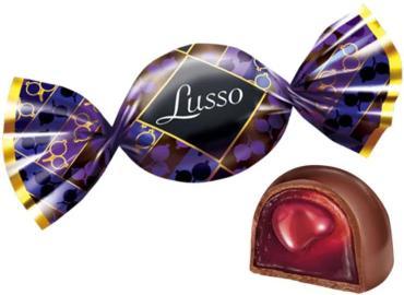 Конфеты Яшкино Lusso со вкусом чёрной смородины
