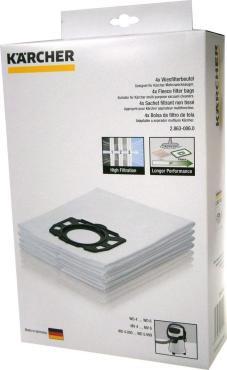 Фильтрмешки 28630060, фильтр для WD 4/5/6, Karcher, картонная коробка