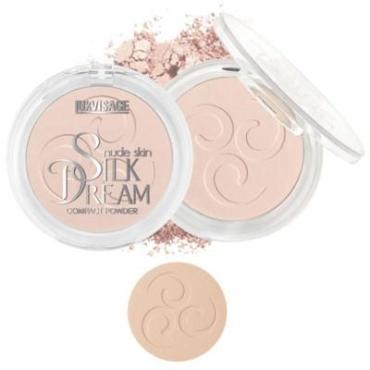 Пудра компактная 2 тон, Lux Visage Silk Dream Nude Skin, 10 гр., стекло