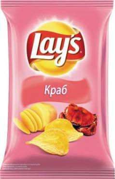 Чипсы Краб,  Lay's, 150 гр., флоу-пак