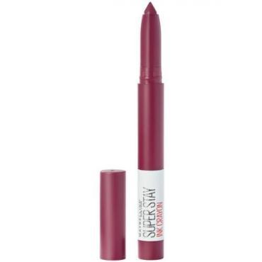 Помада-стик для губ 60 фиолетовый, Будь смелой, Maybelline Superstay Ink Crayon, 1,5 гр., Пластиковая упаковка