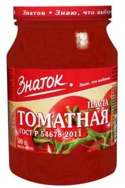 Томатная паста Знаток, 500 гр., стекло