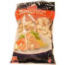 Креветка тигровая 31/40 очищенные варено-мороженая Fine Life 850 гр., Флоу-пак