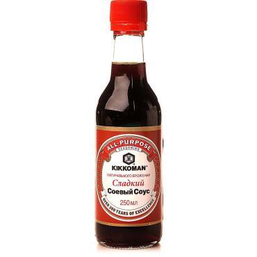 Соус соевый сладкий Kikkoman, 250 мл., пластиковая бутылка