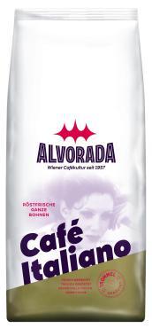 Кофе натуральный жареный в зернах ALVORADA ESPRESSO ITALIANO, 1 кг., флоу-пак