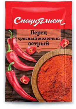 Перец красный молотый острый, Специялист, 10 гр., сашет