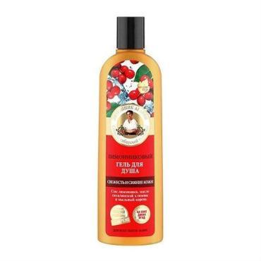 Гель для душа свежесть и сияние кожи лимонниковый Рецепты Бабушки Агафьи, 280 мл., Пластиковая бутылка