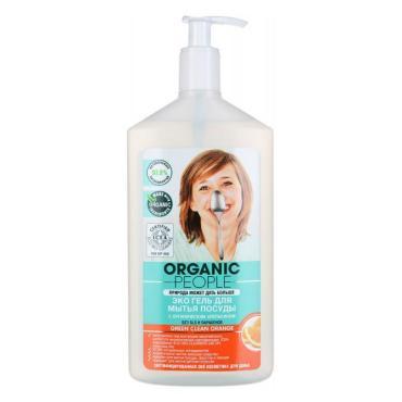 Эко-гель для мытья посуды, апельсин, Organic People, 500 мл., Пластиковый флакон с дозатором