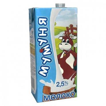 Молоко 2,5%, Мумуня, 1 л., тетра-пак