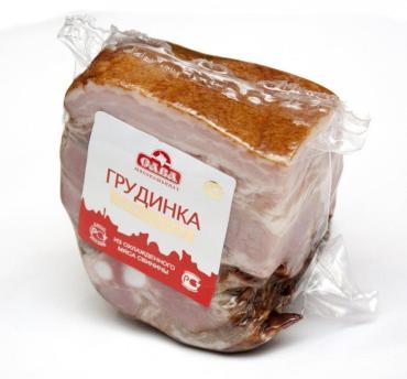 Грудинка свиная домашняя порционная, Сава, 500 гр., вакуумная упаковка