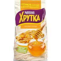 Готовый завтрак медовые хлопья Хрутка Nestle, 300 гр., флоу-пак