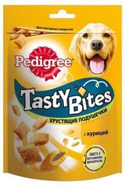 Лакомство Pedigree Tasty Bites хрустящие подушечки с курицей 95г