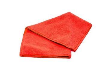 Салфетки красные из микрофибры 30х30см