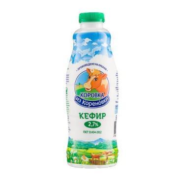 Кефир 2,7%, Коровка из Кореновки, 900 мл., пластиковая бутылка