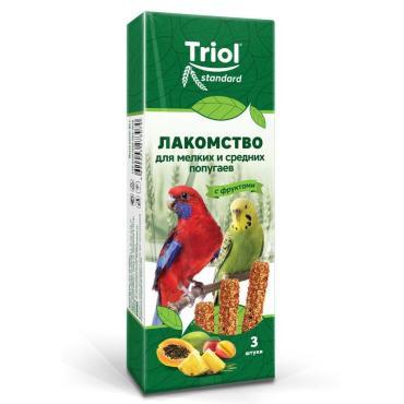 Лакомство Triol standart Для мелких и средних попугаев с фруктами 3шт.
