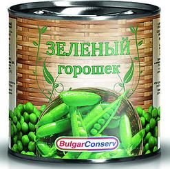 Зелёный горошек Булгарконсерв, 400 гр., жестяная банка
