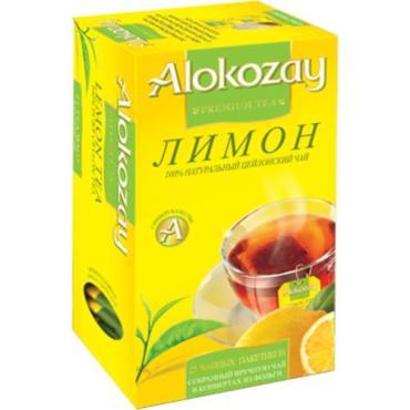 Чай зеленый Alokozay Лимон 25 пакетов