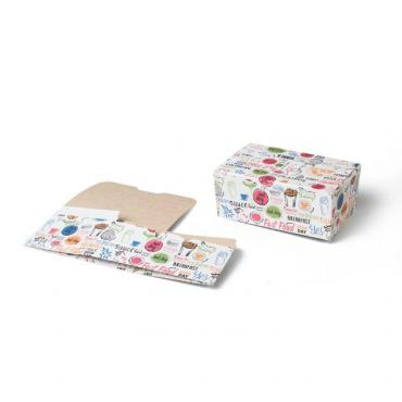 Упаковка для куриных крыльев и наггетсов, малая, с рисунком
