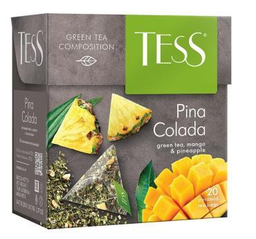 Чай Tess Pina Colada зеленый в пирамидках